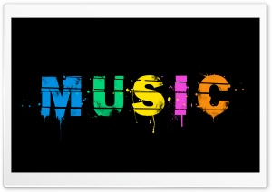 Music Splash HD Wide Wallpaper for 4K UHD Widescreen desktop & smartphone
