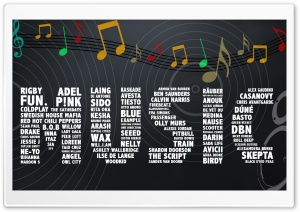 Music Typography HD Wide Wallpaper for 4K UHD Widescreen desktop & smartphone