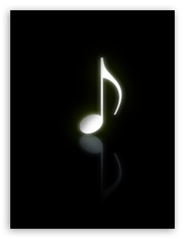 Download Musical Note Black HD Wallpaper