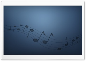 Musical Notes HD Wide Wallpaper for Widescreen
