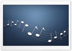 Musical Notes Background HD Wide Wallpaper for Widescreen