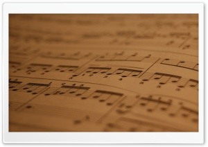 Musical Score HD Wide Wallpaper for Widescreen