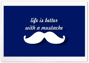 Mustache HD Wide Wallpaper for 4K UHD Widescreen desktop & smartphone
