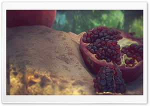 My 3D Fresh Pomegranate HD Wide Wallpaper for 4K UHD Widescreen desktop & smartphone