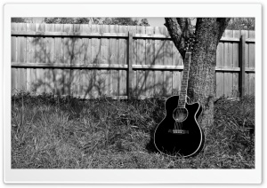 My Black Acoustic HD Wide Wallpaper for Widescreen