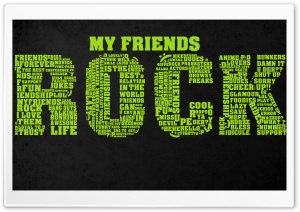 My Friends Rock HD Wide Wallpaper for Widescreen