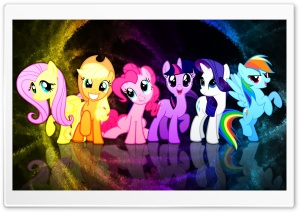 My Little Pony Mane 6 HD Wide Wallpaper for Widescreen