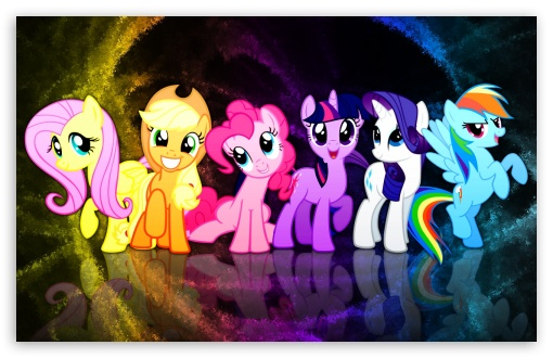 My Little Pony Mane 6 HD wallpaper for Wide 16:10 5:3 Widescreen WHXGA WQXGA WUXGA WXGA WGA ; HD 16:9 High Definition WQHD QWXGA 1080p 900p 720p QHD nHD ; Mobile 5:3 16:9 - WGA WQHD QWXGA 1080p 900p 720p QHD nHD ;