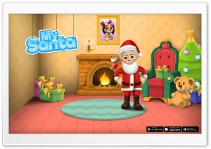 My Santa Claus - Santas Crib HD Wide Wallpaper for Widescreen