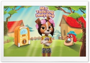 My Talking Lady Dog HD Wide Wallpaper for Widescreen