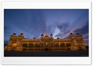 Mysore Palace HD Wide Wallpaper for 4K UHD Widescreen desktop & smartphone