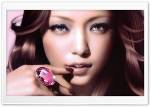 Namie Amuro Painting HD Wide Wallpaper for 4K UHD Widescreen desktop & smartphone