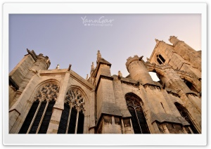 Narbonne Cathedral HD Wide Wallpaper for 4K UHD Widescreen desktop & smartphone