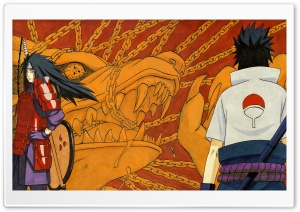 Naruto - Sasuke And Madara Uchiha HD Wide Wallpaper for 4K UHD Widescreen desktop & smartphone