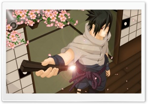 Naruto - Sasuke Before Battle HD Wide Wallpaper for Widescreen