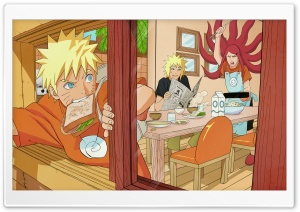 Naruto - The Uzumaki Family HD Wide Wallpaper for Widescreen