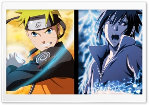 Naruto and Sasuke - Opposites HD Wide Wallpaper for Widescreen