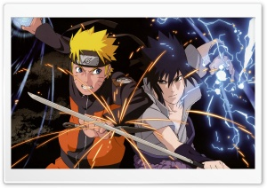 Naruto vs. Sasuke HD Wide Wallpaper for Widescreen