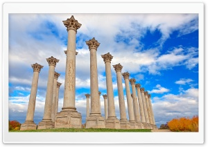 National Capitol Columns HD Wide Wallpaper for Widescreen