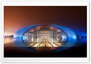 National Centre For The Performing Arts (NCPA), Beijing, China HD Wide Wallpaper for Widescreen