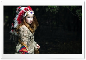 Native American Girl HD Wide Wallpaper for Widescreen