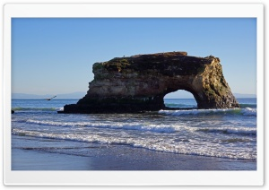 Natural Bridges State Beach, Santa Cruz HD Wide Wallpaper for 4K UHD Widescreen desktop & smartphone