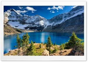 Nature, Mountain Landscape, Blue Lake HD Wide Wallpaper for 4K UHD Widescreen desktop & smartphone