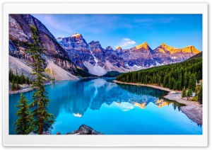 Nature, Mountains, Blue Lake HD Wide Wallpaper for 4K UHD Widescreen desktop & smartphone
