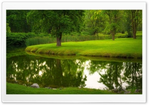 Nature, River, Park, Lawn Grass HD Wide Wallpaper for Widescreen