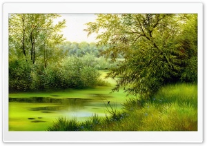 Nature Scene Painting HD Wide Wallpaper for 4K UHD Widescreen desktop & smartphone