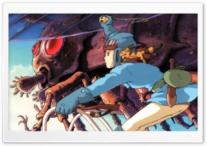 Nausicaa Luring Ohmu HD Wide Wallpaper for Widescreen