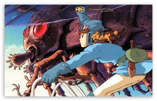 Nausicaa Luring Ohmu HD wallpaper for Wide 16:10 5:3 Widescreen WHXGA WQXGA WUXGA WXGA WGA ; HD 16:9 High Definition WQHD QWXGA 1080p 900p 720p QHD nHD ; Standard 3:2 Fullscreen DVGA HVGA HQVGA devices ( Apple PowerBook G4 iPhone 4 3G 3GS iPod Touch ) ; Mobile 5:3 3:2 16:9 - WGA DVGA HVGA HQVGA devices ( Apple PowerBook G4 iPhone 4 3G 3GS iPod Touch ) WQHD QWXGA 1080p 900p 720p QHD nHD ;