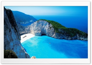 Navagio Bay, Greece HD Wide Wallpaper for Widescreen
