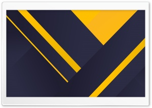Navy Blue and Yellow Shapes HD Wide Wallpaper for 4K UHD Widescreen desktop & smartphone