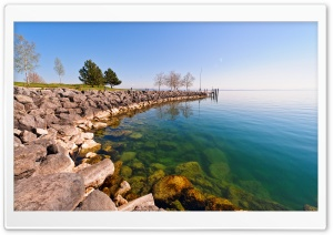 Near The Port Of Serrieres, Peseux, Canton Of Neuchatel, CH, Switzerland HD Wide Wallpaper for Widescreen