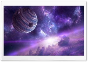 Nebula Planets HD Wide Wallpaper for Widescreen