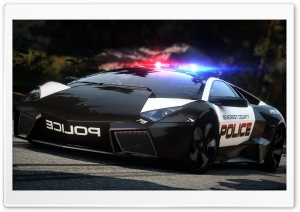 Need For Speed Hot Pursuit Lamborghini Police Car HD Wide Wallpaper for Widescreen