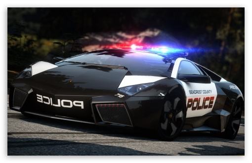 Need For Speed Hot Pursuit Lamborghini Police Car HD wallpaper for Wide 16:10 5:3 Widescreen WHXGA WQXGA WUXGA WXGA WGA ; HD 16:9 High Definition WQHD QWXGA 1080p 900p 720p QHD nHD ; Mobile 5:3 16:9 - WGA WQHD QWXGA 1080p 900p 720p QHD nHD ; Dual 4:3 5:4 UXGA XGA SVGA QSXGA SXGA ;
