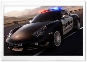 Need For Speed Hot Pursuit Porsche Police Car HD Wide Wallpaper for Widescreen