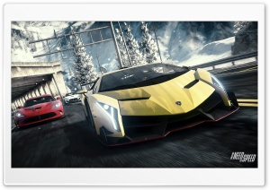Need for Speed Rivals - Lamborghini Veneno, Dodge SRT Viper, Maserati HD Wide Wallpaper for Widescreen