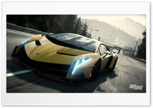 Need For Speed Rivals Lamborghini Veneno HD Wide Wallpaper for Widescreen