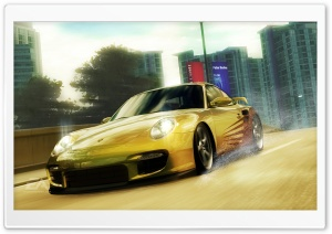Need for Speed Undercover Yellow Porsche HD Wide Wallpaper for Widescreen