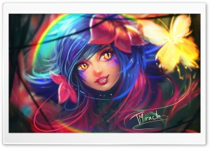 Neeko LoL Champion Fanart HD Wide Wallpaper for 4K UHD Widescreen desktop & smartphone