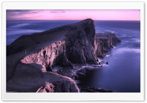 Neist Point Lighthouse, Isle Of Skye, Scotland HD Wide Wallpaper for Widescreen
