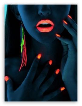 neon girl 4k hd desktop wallpaper for � tablet