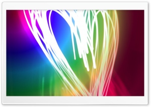 Neon Heart HD Wide Wallpaper for Widescreen