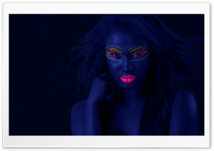 Neon Makeup Black Light Ultra HD Wallpaper for 4K UHD Widescreen desktop, tablet & smartphone