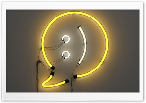 Neon Smiley HD Wide Wallpaper for Widescreen