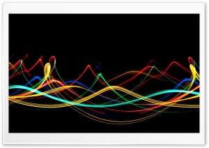 Neon Waves HD Wide Wallpaper for Widescreen