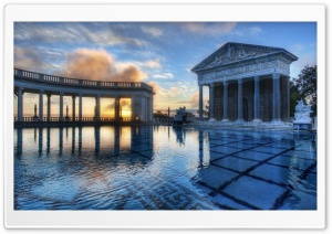 Neptune Pool, Hearst Castle HD Wide Wallpaper for Widescreen